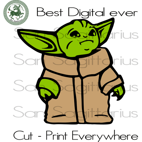 Baby Yoda Star Wars Lovers SVG Files For Silhouette, Cricut Files, SVG DXF EPS PNG Instant Download