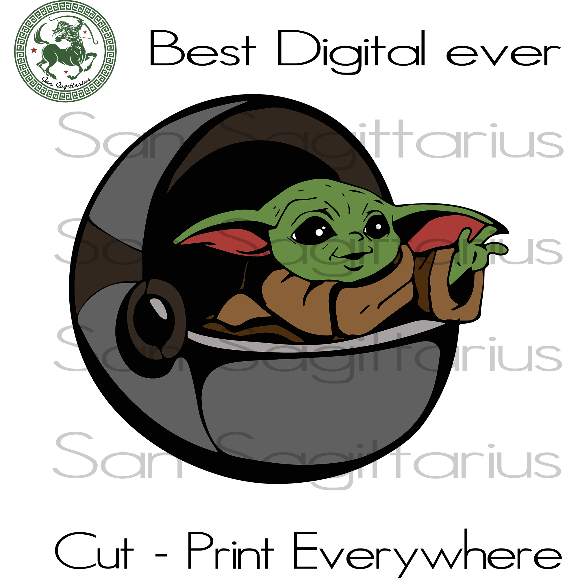 Baby Yoda Cute SVG Files For Silhouette Cricut Files Instant Download