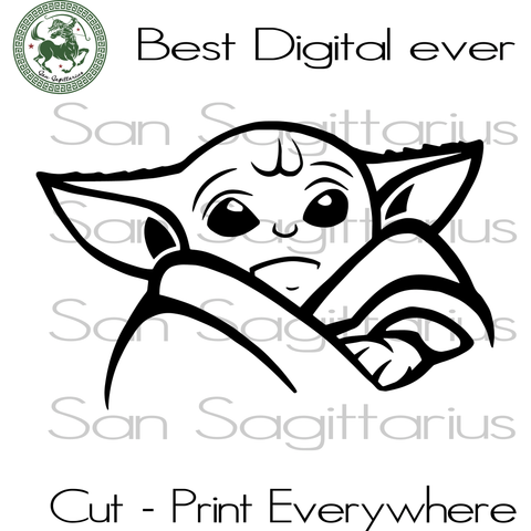 Baby Yoda Star Wars SVG Files For Silhouette Cricut Files Instant Download | San Sagittarius
