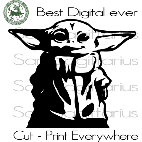 Baby Yoda Funny Movie Gifts SVG Files For Silhouette Cricut Files Instant Download | San Sagittarius