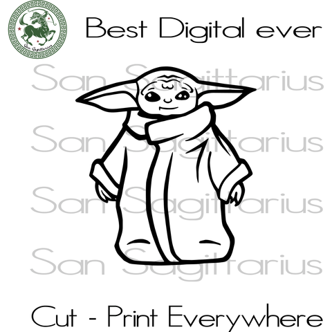 Baby Yoda SVG Files For Silhouette Cricut Files Instant Download | San Sagittarius