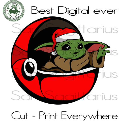 Baby Yoda Christmas Gift SVG Files For Silhouette Cricut Files Instant Download | San Sagittarius