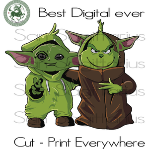 Baby Yoda Star Wars Grinch Lover SVG Files For Silhouette Cricut Files Instant Download | San Sagittarius