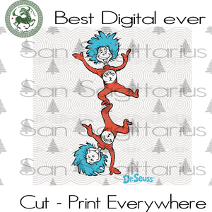 Thing 1 thing 2 Dr Seuss, Dr Seuss Svg Files, Dr Seuss cut files, Clipart, Eps Vectors, Dxf files for cricut, Cutting Machines, Svg Files For Cricut Silhouette Instant Download | San Sagittarius