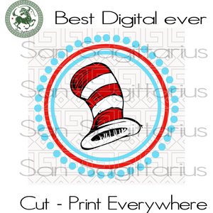 Dr Seuss Hat Svg, Dr Seuss Hat, Dr Seuss Hat cut file, Dr. Seuss svg, Cat In Hat, Lorax,Thing one thing two, Thing 1 Thing 2 svg, Svg Files For Cricut Silhouette Instant Download | San Sagitt