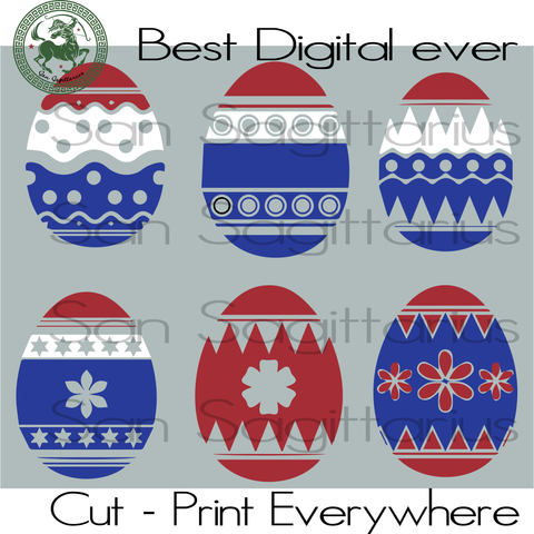 Eggs Vector, Egg Clipart, USA Flag Vector, America Flag, US Flag SVG Files For Cricut Silhouette Instant Download | San Sagittarius