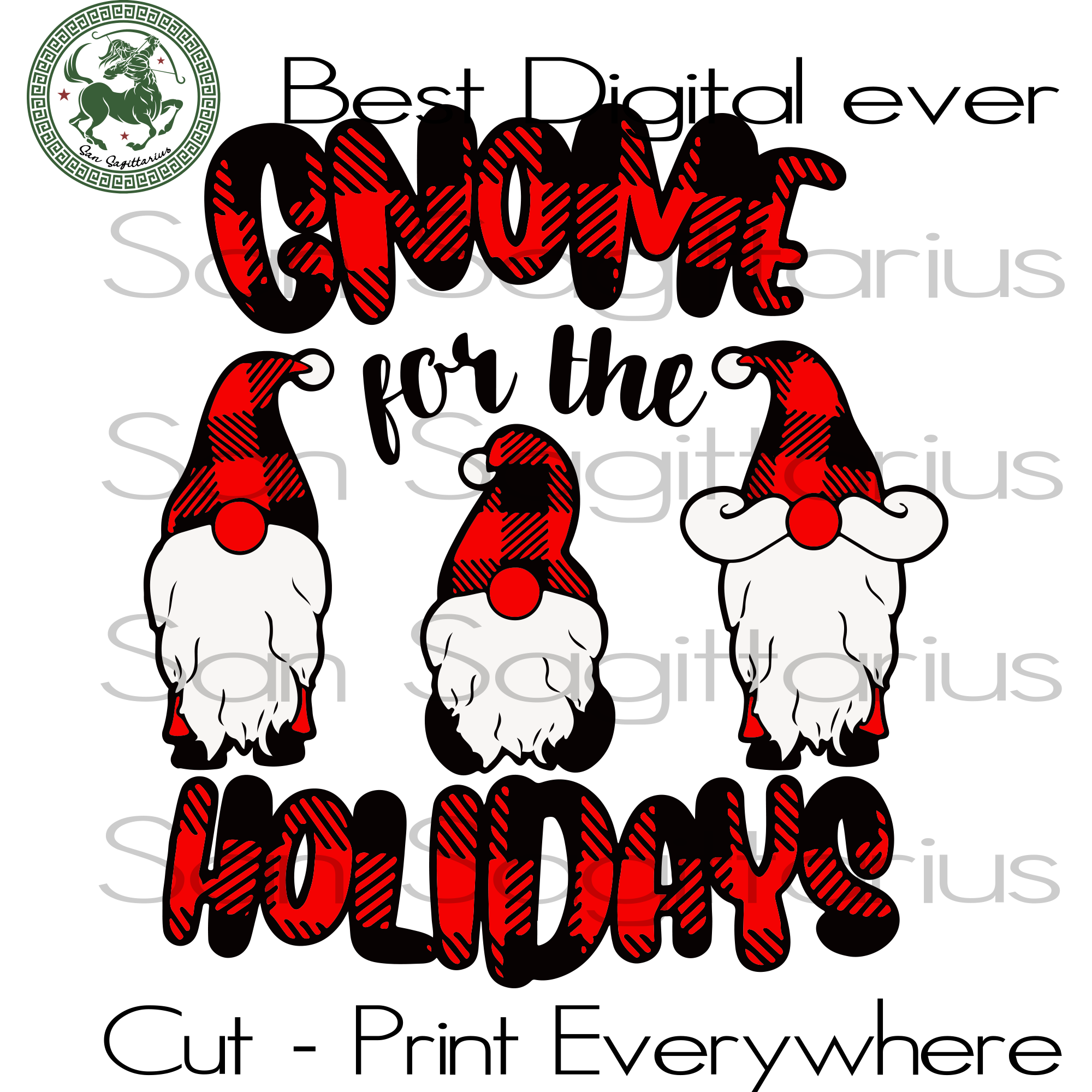 Gnome For The Holidays, Gnome Svg, Love Gnome, Gnomie Shirt, Gnome Gift, Christmas Gnome, Merry Christmas, Christmas Svg, Christmas Gift, Christmas Tree, Christmas Tree Svg, Christmas Decor,