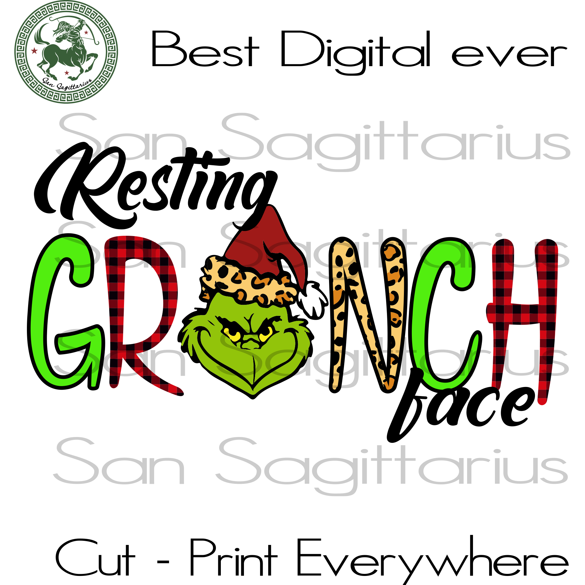 Resting Grinch Face The Grinch Svg Christmas Grinch Svg The Grinch San Sagittarius