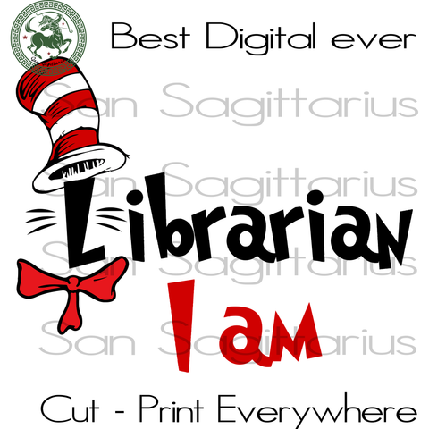Dr Seuss Librarian,  Dr Seuss Svg Files, Dr Seuss cut files, Clipart, Eps Vectors, Dxf files for cricut, Cutting Machines, Svg Files For Cricut Silhouette Instant Download | San Sagittarius