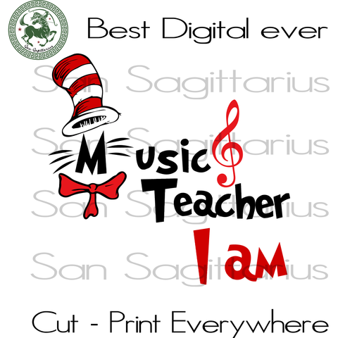 Dr Seuss Music teacher, Dr Seuss Svg Files, Dr Seuss cut files, Clipart, Eps Vectors, Dxf files for cricut, Cutting Machines, Svg Files For Cricut Silhouette Instant Download | San Sagittarius