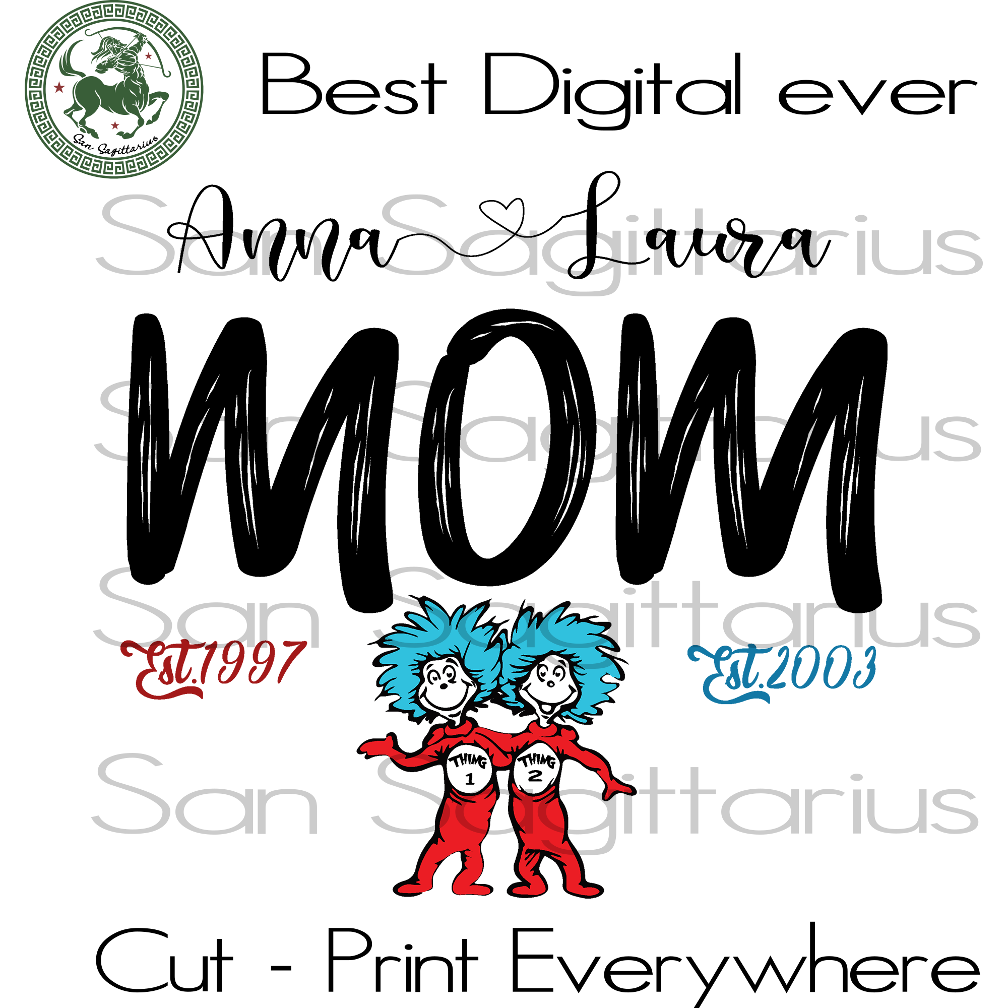 Mom gift, Mom Gift Svg, Mom Shirt Svg, Family Gift Svg, Birthday mom, Mothers Day, Dr Seuss Cut File, Birthday Customized, Mommy SVG Files For Silhouette Instant Download | San Sagittarius