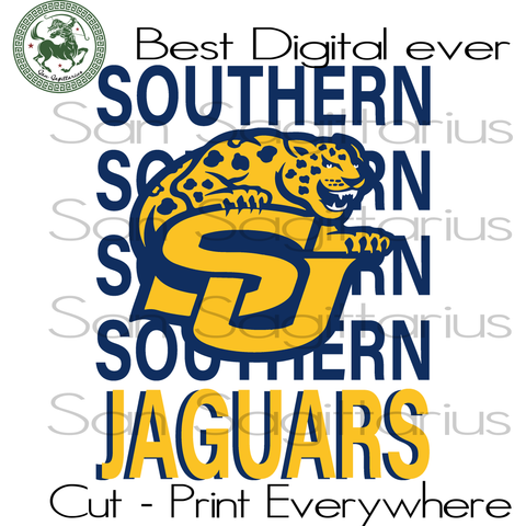 SU Jacksonville Jaguars logo, Jacksonville Jaguars, Southern University Hbcu, Football Logo, Nfl Football, Nfl Svg Football, Jacksonville Jaguars Football, Hbcu Graduation Svg Files For Cricut Silhouette Instant Download | San Sagittarius