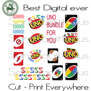 Uno card bundle, Uno card bundle svg, uno svg birthday, uno drunk logo, uno shirt svg, uno card svg, uno we out, uno party, uno alphabet, uno 2020 svg, senior uno, class of 2020, uno birthday