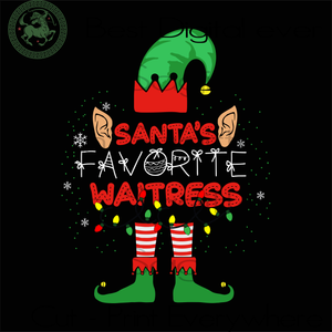 Santa's Favorite Waitress, Christmas Svg, Santa Clause, Christmas Gifts, Merry Christmas, Christmas Holiday, Christmas Party, Funny Christmas, Xmas Gift, Christmas Gift Ideas, Merry Christmas