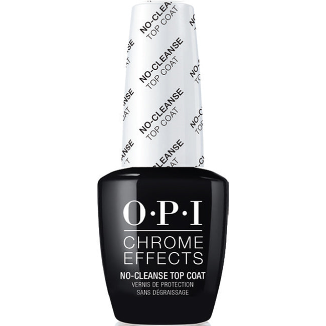 OPI Chrome Powder Chrome Effects No-Cleanse Gel Top Coat #CPT30