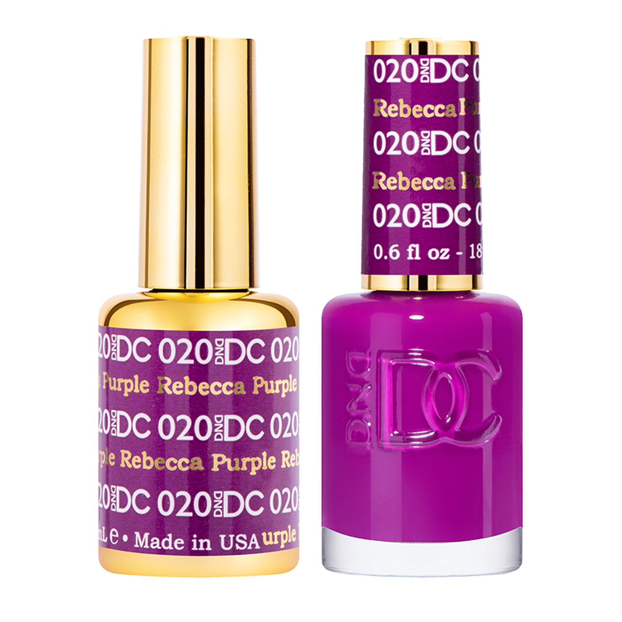DND DC DUO GEL - #020 REBECCA PURPLE