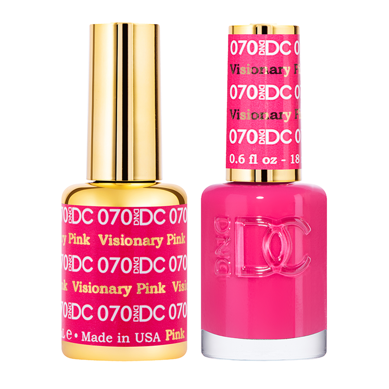 DND DC DUO GEL - #070 VISIONARY PINK