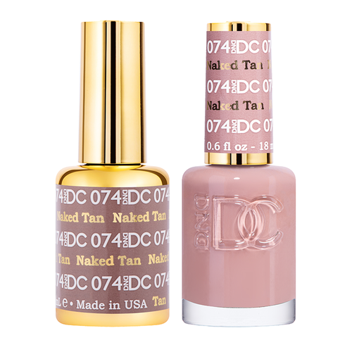 DND DC DUO GEL - #074 NAKED TAN