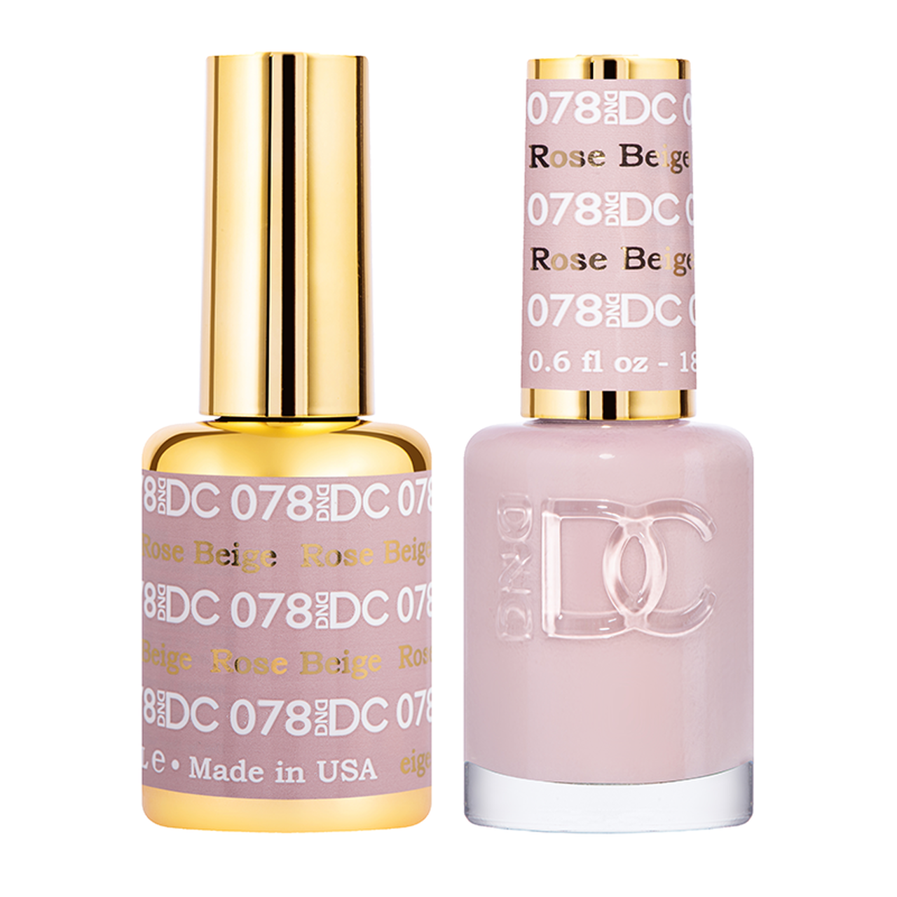 DND DC DUO GEL - #078 ROSE BEIGE