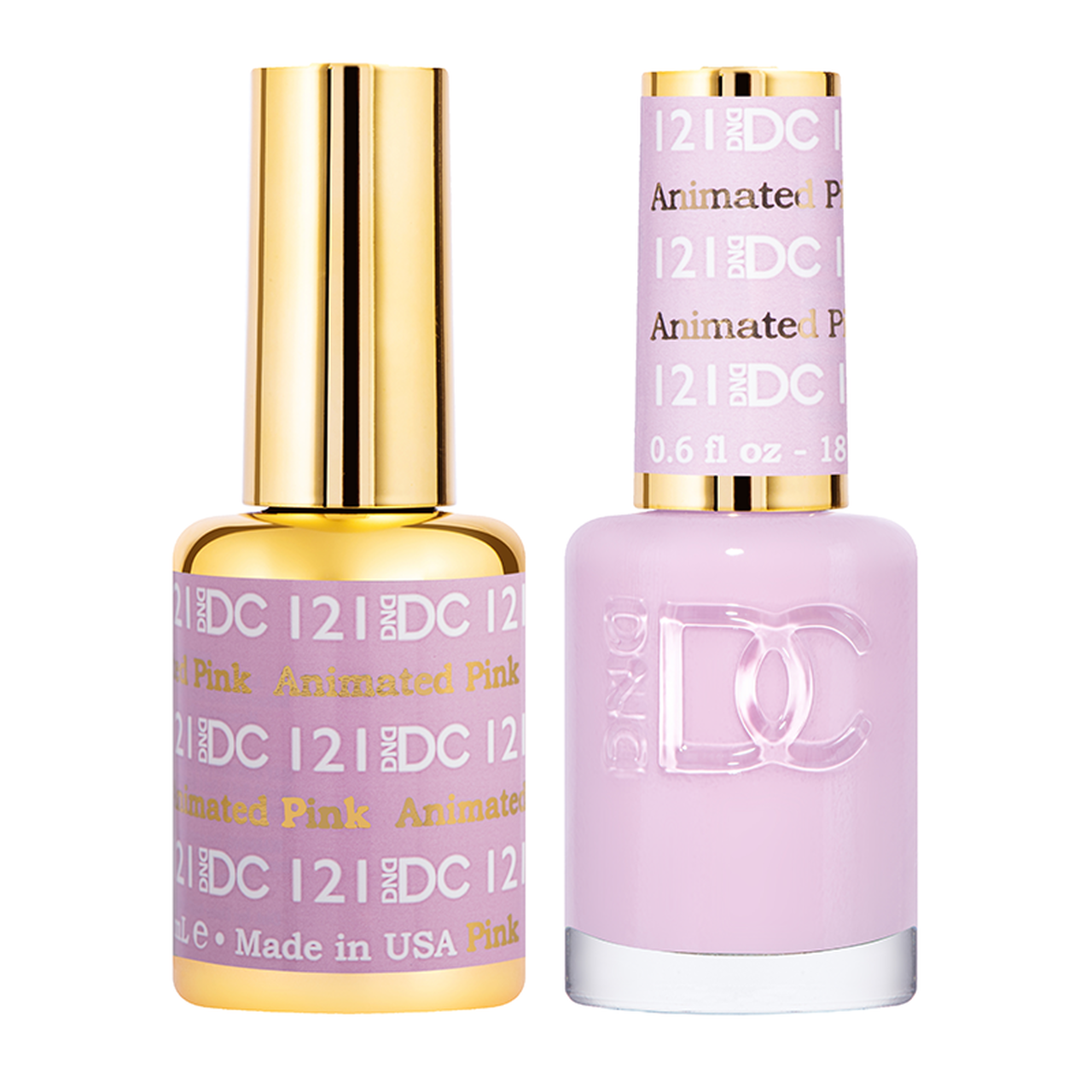 DND DC DUO GEL - #121 ANIMATED PINK