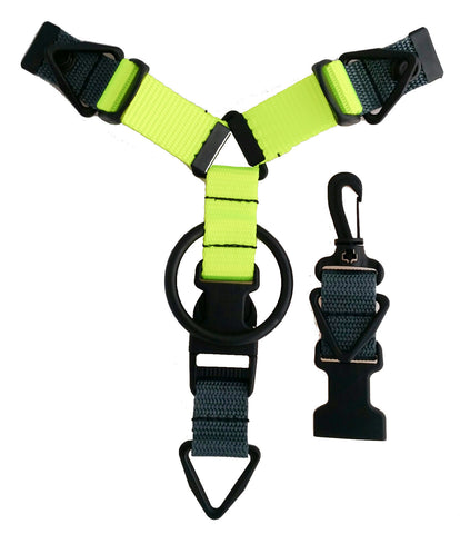Custom Accessory Hanger - Charcoal & Volt Green - Snap-Hookz Golf