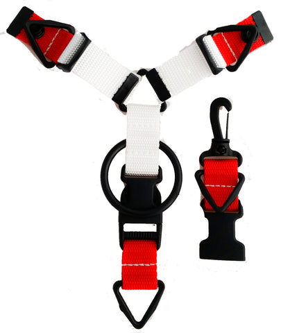 Custom Accessory Hanger - Red & White - Snap-Hookz Golf