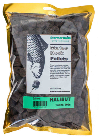 17mm drilled high oil halibut pellets