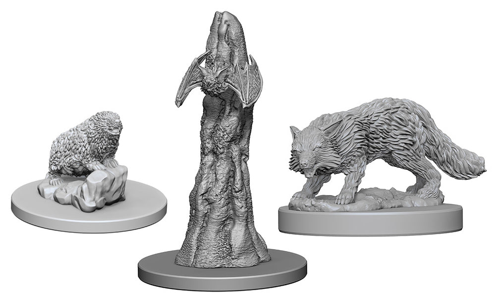 Pathfinder Deep Cuts Unpainted Miniatures: W1 Familiars