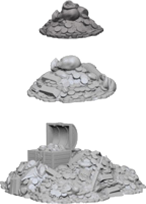 WizKids Deep Cuts Unpainted Miniatures: W3 Treasure Piles