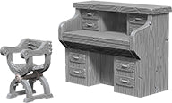 WizKids Deep Cuts Unpainted Miniatures: W5 Desk & Chair