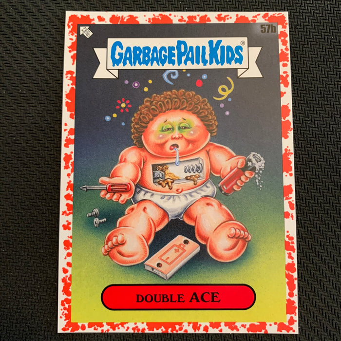 Garbage Pail Kids - 35th Anniversary 2020 - 057b - Double Ace - Blood Nose Red Parallel 57/75