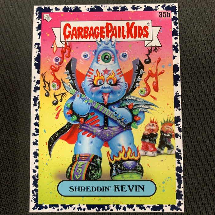 Garbage Pail Kids - 35th Anniversary 2020 - 035b - Shreddin' Kevin - Bruised Black Parallel