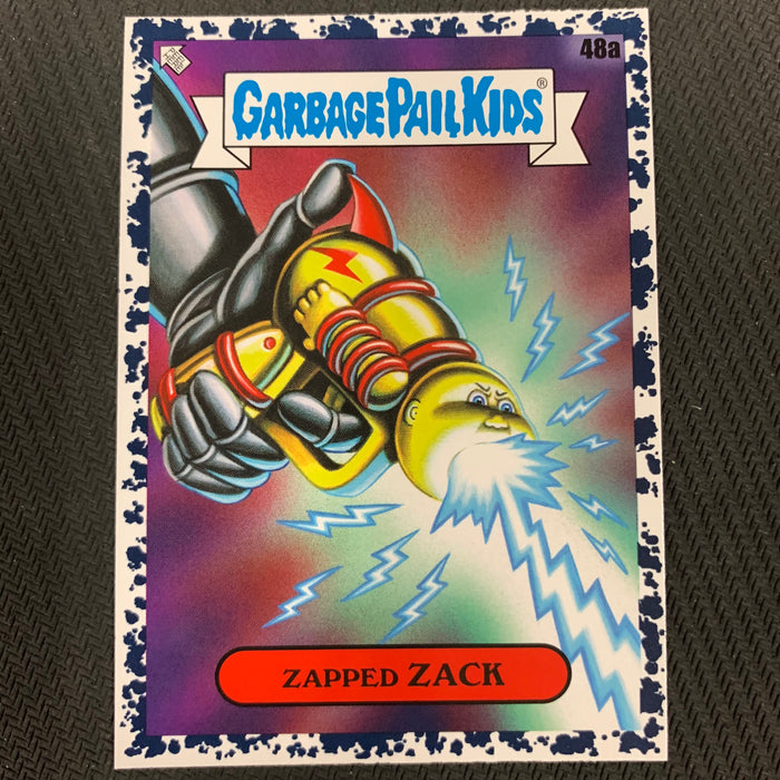 Garbage Pail Kids - 35th Anniversary 2020 - 048a - Zapped Zack - Bruised Black Parallel