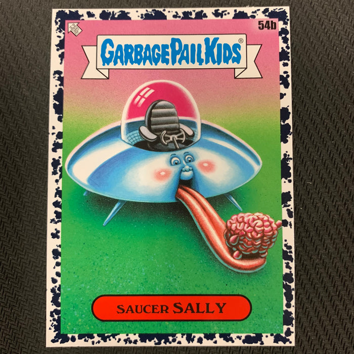 Garbage Pail Kids - 35th Anniversary 2020 - 054b - Saucer Sally - Bruised Black Parallel