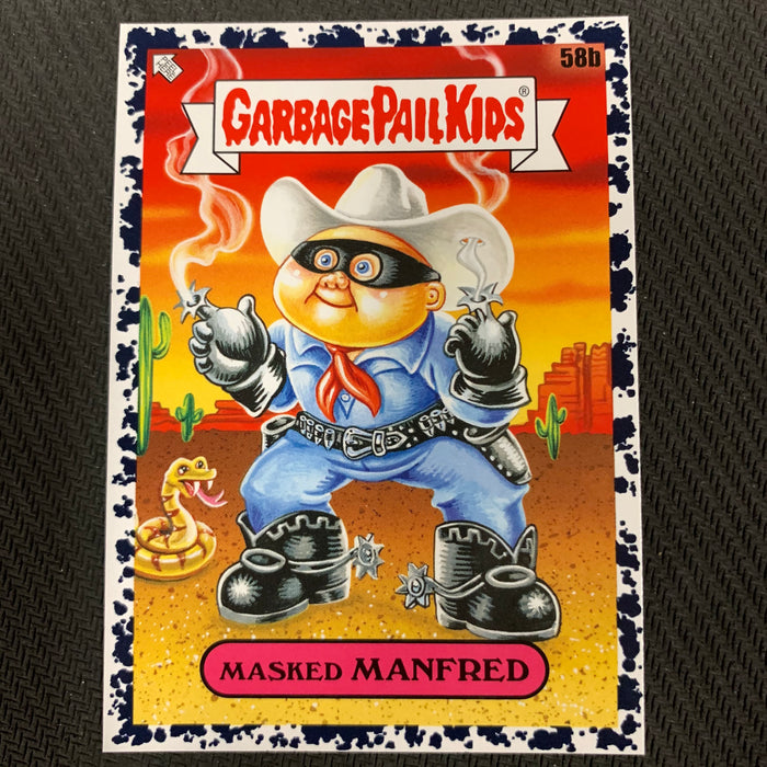 Garbage Pail Kids - 35th Anniversary 2020 - 058b - Masked Manifred - Bruised Black Parallel