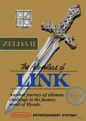 Legend of Zelda 2 - The Adventures of Link Gold Cart - NES - Loose
