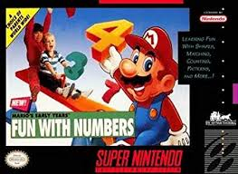 Mario's Early Years - Fun With Numbers  - SNES - Loose