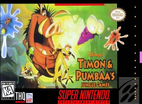 Timon and Pumbaa Jungle Games  - SNES - Loose