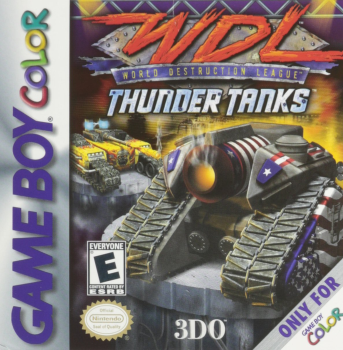 WDL Thunder Tanks - Game Boy Color - Loose