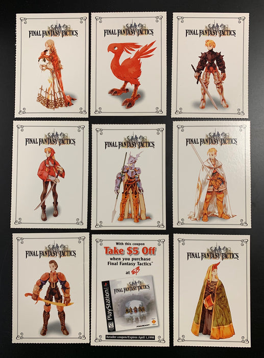 Final Fantasy Tactics Promo Set of 9 Cards - Playstation Magazine
