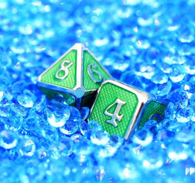 Foam Brain Dice - Emerald Mesh RPG Set