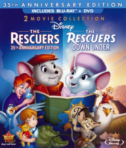 Rescuers and Rescuers Down Under - Blu-Ray