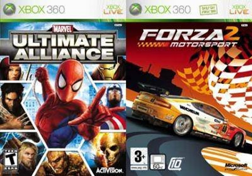 Ultimate Alliance and Forza 2 Motorsport - Xbox 360 - in Case