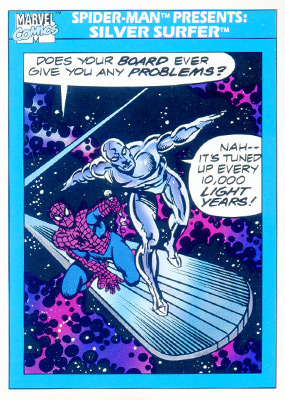 Marvel Universe 1990 - 153 - Spider-Man Presents - Silver Surfer