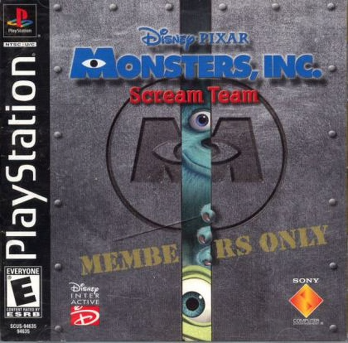 Monsters Inc Scream Team - Playstation 1 - Complete