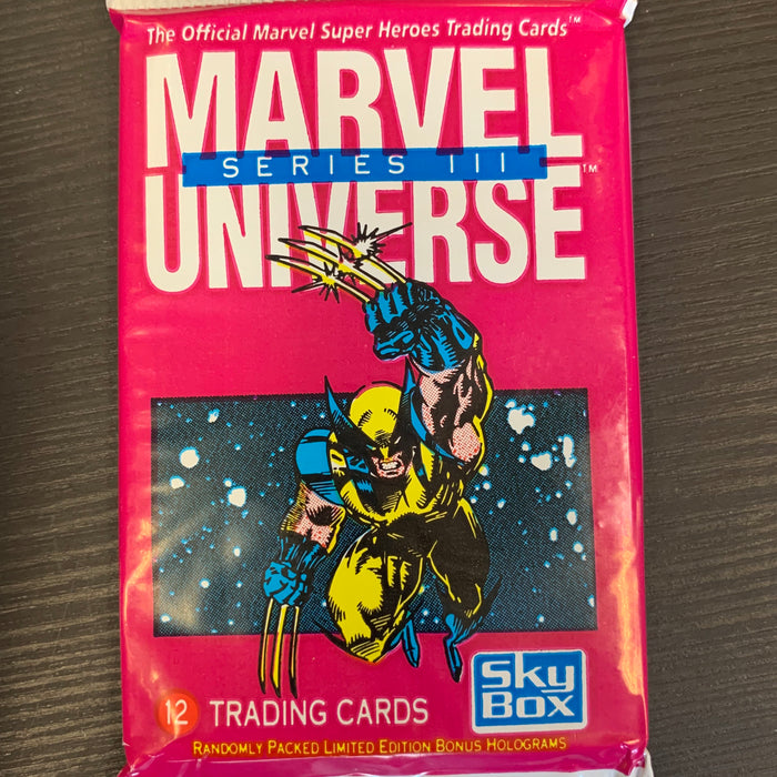 Marvel Universe Series III Trading Card Pack