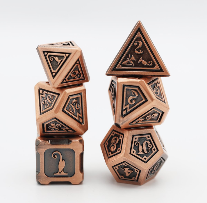 Foam Brain Dice - Alchemist Metals RPG Dice Set: Copper