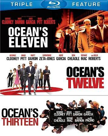 Ocean's Eleven, Twelve, and Thirteen and a Half- Blu-Ray