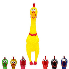 Animolds Crazy Huge Rubber Chicken - 29 Inch, Squeaks Up to 45 Seconds