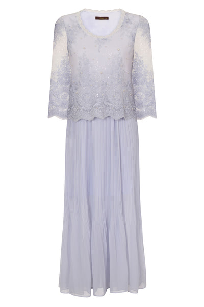 LAVENDER MAXI LACE DRESS